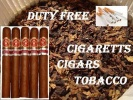 <b>DUTY FREE CIGARETTES, CIGARS AND TOBACCO</b>